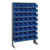 "Single Sided Rack 12""D x 36""W x 60""H with 40 Blue Bins 11-7/8""L x 6-5/8""W x 4""H"