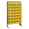 "Single Sided Rack 12""D x 36""W x 60""H with 40 Yellow Bins 11-7/8""L x 6-5/8""W x 4""H"