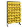 """Single Sided Rack 12"""" D x 36"""" W x 60"""" Hgt. with 40 Yellow Bins 11-7/8"""" L x 6-5/8"""" W x 4"""" Hgt."""