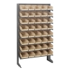 "Single Sided Rack 12""D x 36""W x 60""H with 40 Ivory Bins 11-7/8""L x 6-5/8""W x 4""H"