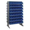 """Double Sided Rack 24"""" D x 36"""" W x 60"""" Hgt. with 128 Blue Bins 11-7/8"""" L x 4-1/8"""" W x 4"""" Hgt."""