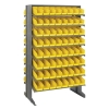 "Double Sided Rack 24""D x 36""W x 60""H with 128 Yellow Bins 11-7/8""L x 4-1/8""W x 4""H"