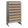 "Double Sided Rack 24""D x 36""W x 60""H with 128 Ivory Bins 11-7/8""L x 4-1/8""W x 4""H"