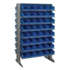 "Double Sided Rack 24""D x 36""W x 60""H with 80 Blue Bins 11-7/8""L x 6-5/8""W x 4""H"
