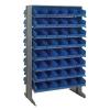 """Double Sided Rack 24"""" D x 36"""" W x 60"""" Hgt. with 80 Blue Bins 11-7/8"""" L x 6-5/8"""" W x 4"""" Hgt."""