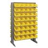 "Double Sided Rack 24""D x 36""W x 60""H with 80 Yellow Bins 11-7/8""L x 6-5/8""W x 4""H"