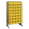 "Double Sided Rack 24"" D x 36"" W x 60"" Hgt. with 80 Yellow Bins 11-7/8"" L x 6-5/8"" W x 4"" Hgt."