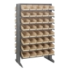 "Double Sided Rack 24""D x 36""W x 60""H with 80 Ivory Bins 11-7/8""L x 6-5/8""W x 4""H"
