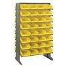 "Double Sided Rack 24"" D x 36"" W x 60"" Hgt. with 64 Yellow Bins 11-7/8"" L x 8-1/8"" W x 4"" Hgt."