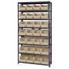"12"" W x 36"" L x 75"" Hgt. Storage Unit w/8 Shelves & 28 Ivory Bins 14-3/4"" L x 8-1/4"" W x 7"" Hgt."