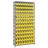 "12"" W x 36"" L x 75"" Hgt. Unit with 13 Shelves & 96 Yellow Bins 11-7/8"" L x 4-1/8"" W x 4"" Hgt."