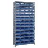 """12"""" W x 36"""" L x 75"""" Hgt. Unit with 13 Shelves & 48 Blue Bins 11-5/8"""" L x 8-3/8"""" W x 4"""" Hgt."""