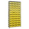 "12"" W x 36"" L x 75"" Hgt. Unit with 13 Shelves & 48 Yellow Bins 11-5/8"" L x 8-3/8"" W x 4"" Hgt."