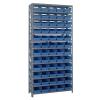 """18"""" W x 36"""" L x 75"""" Hgt. Unit with 13 Shelves & 60 Blue Bins 17-7/8"""" L x 6-5/8"""" W x 4"""" Hgt."""