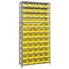 "18"" W x 36"" L x 75"" Hgt. Unit with 13 Shelves & 60 Yellow Bins 17-7/8"" L x 6-5/8"" W x 4"" Hgt."