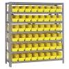 "18"" W x 36"" L x 39"" Hgt. Unit with 7 Shelves & 48 Yellow Bins 17-7/8"" L x 4-1/8"" W x 4"" Hgt."