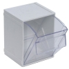 "4""L x 4-1/2""W x 6""H White Tip Out Bin"