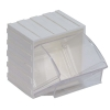 "2-7/8""L x 3-3/4""W x 4""H White Tip Out Bin"