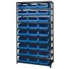 "Magnum Bin Unit with 10 Shelves & 27 Blue Bins 19-3/4""L x 12-3/8""W x 5-7/8""H"
