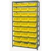 "Magnum Bin Unit with 10 Shelves & 27 Yellow Bins 19-3/4""L x 12-3/8""W x 5-7/8""H"
