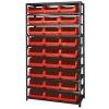 """Magnum Bin Unit with 10 Shelves & 27 Red Bins 19-3/4""""L x 12-3/8""""W x 5-7/8""""H"""