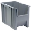 "17-1/2""L x 10-7/8""W x 12-1/2""H Gray Quantum® Giant Stack Container"