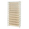 """Shelf Bin System with 12 Shelves & 77 Ivory Bins 17-7/8""""L x 4-1/8""""W x 4""""H"""