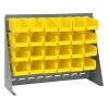 "27"" L x 8"" W x 21"" Hgt. Bench Rack with 24 - 5-3/8"" L x 4-1/8"" W x 3"" Hgt. Yellow Bins"