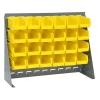 "27"" L x 8"" W x 21"" Hgt. Bench Rack with 24 - 7-3/8"" L x 4-1/8"" W x 3"" Hgt. Yellow Bins"