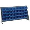 "36"" L x 8"" W x 19"" Hgt. Bench Rack with 32 - 5-3/8"" L x 4-1/8"" W x 3"" Hgt. Blue Bins"
