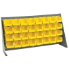 "36"" L x 8"" W x 19"" Hgt. Bench Rack with 32 - 5-3/8"" L x 4-1/8"" W x 3"" Hgt. Yellow Bins"