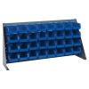 "36"" L x 8"" W x 19"" Hgt. Bench Rack with 32 - 7-3/8"" L x 4-1/8"" W x 3"" Hgt. Blue Bins"