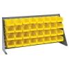 "36"" L x 8"" W x 19"" Hgt. Bench Rack with 32 - 7-3/8"" L x 4-1/8"" W x 3"" Hgt. Yellow Bins"