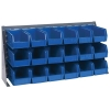 "36"" L x 8"" W x 19"" Hgt. Bench Rack with 18 - 10-7/8"" L x 5-1/2"" W x 5"" Hgt. Blue Bins"