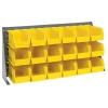 "36"" L x 8"" W x 19"" Hgt. Bench Rack with 18 - 10-7/8"" L x 5-1/2"" W x 5"" Hgt. Yellow Bins"