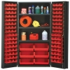 "Red Quantum® Heavy Duty 36"" Wide Cabinet w/Adjustable Shelves"