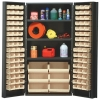 "Ivory Quantum® Heavy Duty 36"" Wide Cabinet w/Adjustable Shelves"