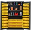 "Yellow Quantum® Heavy Duty 48"" Wide Cabinet w/Adjustable Shelves"