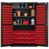 "Red Quantum® Heavy Duty 48"" Wide Cabinet w/Adjustable Shelves"