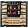 "Ivory Quantum® Heavy Duty 48"" Wide Cabinet w/Adjustable Shelves"