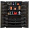 "Black Quantum® Heavy Duty 48"" Wide Cabinet w/Adjustable Shelves"