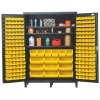 "Yellow Quantum® Heavy Duty 60"" Wide Cabinet w/Adjustable Shelves"