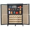 "Ivory Quantum® Heavy Duty 60"" Wide Cabinet w/Adjustable Shelves"