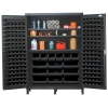 "Black Quantum® Heavy Duty 60"" Wide Cabinet w/Adjustable Shelves"