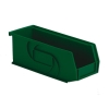 "10-7/8"" L x 4-1/8"" W x 4"" Hgt. Green Hang & Stack Bin"