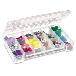 """Large Case with Max 18 Compartments - 14.375"""" L x 9.5"""" W x 2.5"""" Hgt."""