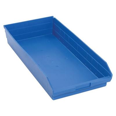 "Blue Quantum® Economy Shelf Bin - 23-5/8"" L x 11-1/8"" W x 4"" Hgt."