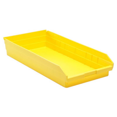 "Yellow Quantum® Economy Shelf Bin - 23-5/8"" L x 11-1/8"" W x 4"" Hgt."