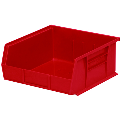 "10-7/8""L x 11""W x 5""H OD Red Storage Bin"