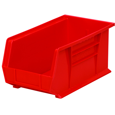 "14-3/4"" L x 8-1/4"" W x 7"" Hgt. OD Red Storage Bin"